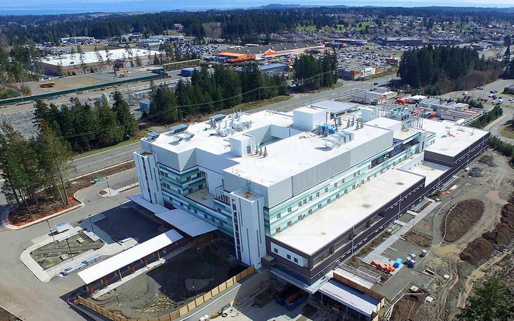comox valley hospital under construction