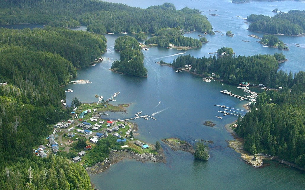kyuquot view from the sky